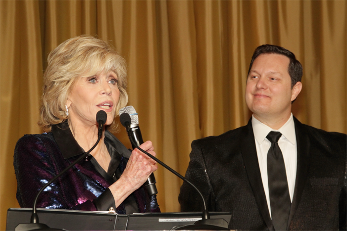Dean with Jane Fonda